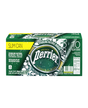 PERRIER Sparkling Natural Mineral Water, 8.45-ounce Slim Cans