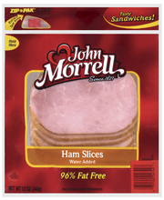 John Morrell Breakfast Ham Slices Specialty Cuts 12 Oz Peg