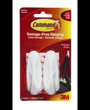Command Damage-Free Hanging Designer Hooks - 2 CT