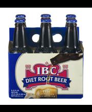 IBC Diet 12 Oz Root Beer 6 Pk Glass Bottles