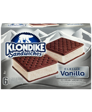 Klondike® Vanilla Ice Cream Sandwiches 6 ct Box