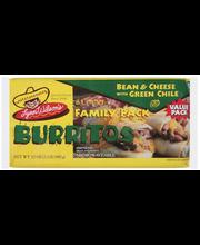 Lynn Wilson's Bean & Cheese W/Green Chile Family Pack Burrito...