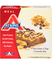 Atkins™ Meal Chocolate Chip Granola Meal Bars 5-1.7 oz. Wrapper