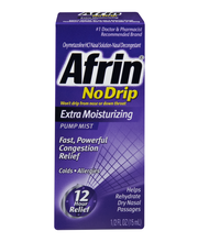 Afrin® No Drip Extra Moisturizing Nasal Decongestant Pump Mis...