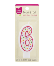 Cake Mate Numeral 6 Birthday Candle