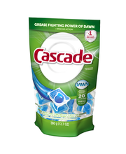 Cascade ActionPacs Dishwasher Detergent, Fresh Scent, 20 Count