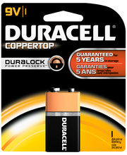 Duracell Coppertop 9V Alkaline Batteries 1 Count