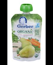 Gerber Organic 2nd Foods Baby Food, Pears, Carrots & Peas, 3....