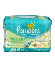 Natural Aloe Pampers Baby Wipes Natural Clean 3X 192 count