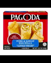 Pagoda® Pork & Shrimp Egg Rolls 12.27 oz. Box