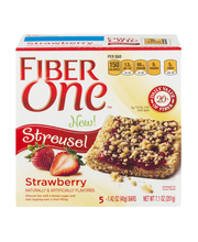 Fiber One™ Strawberry Streusel Bars 5-1.42 oz. Wrappers