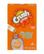 Crush Orange Non-Carbonated Low Calorie Drink Mix Singles To ...