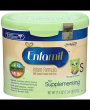 Enfamil™ Supplementing Infant Formula 21.5 oz. Plastic Container
