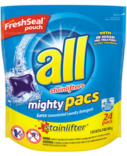 All® Stainlifter® Mighty Pacs® Laundry Detergent 24 Loads 16....