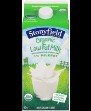 Stonyfield Organic™ Low Fat Milk 0.5 gal. Carton