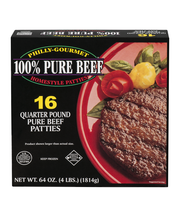 Philly-Gourmet 100% Pure Beef Homestyle Patties - 16 CT