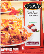 STOUFFER'S Large Family Size Three Cheese Ravioli With Meat S...