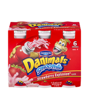 Dannon® Danimals® Lowfat Yogurt Smoothie Strawberry Explosion...