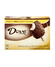 Dove Bar® Caramel Swirl Ice Cream with Milk Chocolate Cashew ...
