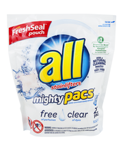 All® Mighty Pacs® Free Clear Super Concentrated Laundry Deter...