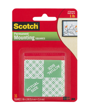 Scotch Permanent Mounting Squares - 16 CT