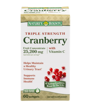 Nature's Bounty Triple Strength Cranberry 25,200mg with Vitam...