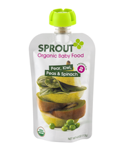 Sprout Organic Baby Food Pear, Kiwi, Peas & Spinach 2