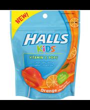 Halls Kids Orange Vitamin C Pops Dietary Supplement 10 ct Pouch