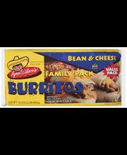 Lynn Wilson's Bean & Cheese Family Pack Burritos 8 Ct Package