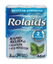 Rolaids Regular Strength Antacid Rolls Mint - 3 CT