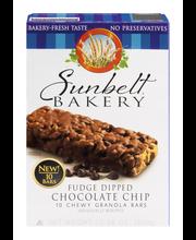 Sunbelt Bakery Granola Bars Fudge Dipped Chocolate Chip - 10 CT