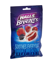 Halls® Breezers® Cool Berry® Pectin Throat Drops 25 ct Bag