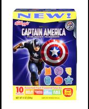 Kellogg's® Civil War Captain America Fruit Flavored Snacks Box