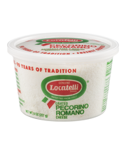 Locatelli Brand Grated Pecorino Romano Cheese Aged 9 Months