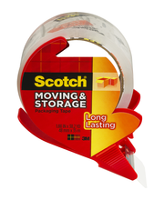 Scotch Moving & Storage Packaging Tape Roll (3650S-RD)