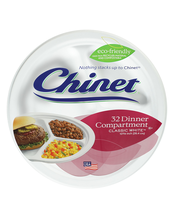 Chinet® Dinner Compartment Plates Classic White™ 32 ct