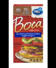 Boca All American Flame Grilled Veggie Burgers 4 ct Box