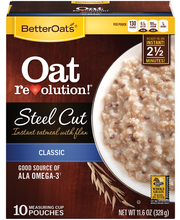 Better Oats® Steel Cut Original Instant Oatmeal with Flax See...
