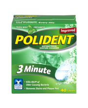 Polident® 3 Minute Triple Mint Antibacterial Daily Denture Cl...