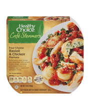 Healthy Choice® Cafe Steamers® Four-Cheese Ravioli & Chicken ...