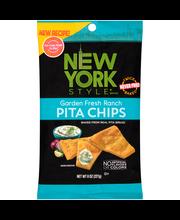 New York Style® Garden Fresh Ranch Pita Chips 8 oz. Bag