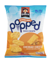 Quaker® Popped® Cheddar Cheese Rice Crisps 6.06 oz. Bag