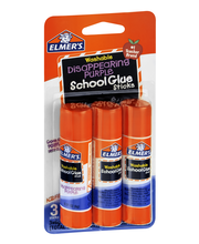 Elmer's Washable Disappearing Purple School Glue - 3 CT