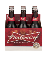Budweiser® Beer 6-12 fl. oz. Glass Bottles