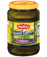 Nalley Sweet Gherkin Wholes Pickles 24 Oz Jar