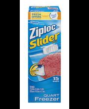 Ziploc® Slider Quart Freezer Bags 15 ct