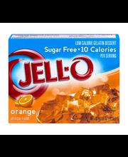 Jell-O Sugar Free Orange Low Calorie Gelatin Dessert .6 Oz Box