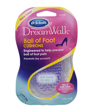 Dr. Scholl's® DreamWalk® Ball of Foot Cushions 1 pr Carded Pack