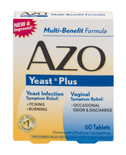 AZO Yeast Plus Multi-Benefit Homeopathic Medicine Tablets - 6...