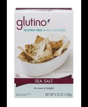 Glutino® Sea Salt Gluten Free Snack Crackers 4.25 oz. Box